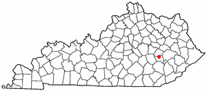 K Y Map-doton- Booneville