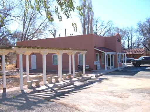 Tularosa Public Library building and ramada
