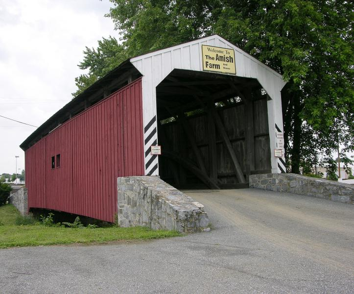Willow Hill Covered Bridge Three Quarters View 2950px